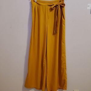 Beautiful mustard yellow wide leg pants